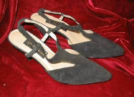 Womens Black Eclisse Suede Dress Shoes Pump 8 M - $25.75