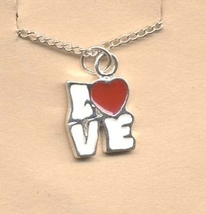 Valentine's Day Charm PENDANT NECKLACE - HEART Love Jewelry -J - $4.97