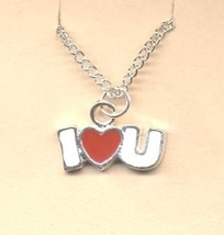 Valentine's Day Charm PENDANT NECKLACE - HEART Love Jewelry -K - $4.97