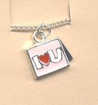 Valentine's Day Charm PENDANT NECKLACE - HEART Love Jewelry -L - $4.97