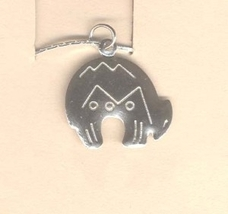 Zuni SPIRIT BEAR PENDANT NECKLACE-Southwest Lucky Charm Jewelry - $4.97
