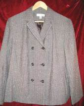 Womens Dress Barn DressBarn Brown Career Suit Jacket 14W 14 W - $38.50
