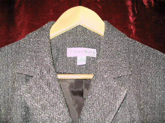 Womens Dress Barn DressBarn Brown Career Suit Jacket 14W 14 W