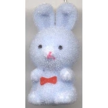 BUNNY FUZZY PENDANT NECKLACE-Easter Party Favor Funky Jewelry-BL - $4.97