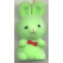BUNNY FUZZY PENDANT NECKLACE-Easter Party Favor Funky Jewelry-GR - $3.97