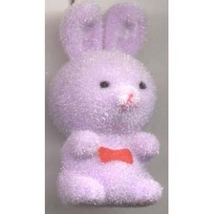BUNNY FUZZY PENDANT NECKLACE-Easter Party Favor Funky Jewelry-PL - $4.97