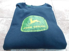 Brand New, JOHN DEERE, Sweatshirt, Men's Size XL, Black, W/H John Deere ... - $39.99