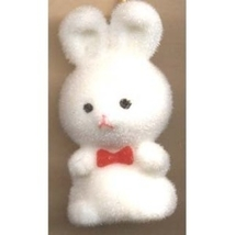 BUNNY FUZZY PENDANT NECKLACE-Easter Party Favor Funky Jewelry-WT - $4.97