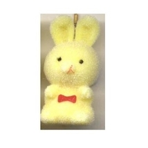 BUNNY FUZZY PENDANT NECKLACE-Easter Party Favor Funky Jewelry-YL - $3.97
