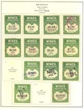 RE108//RE166, Unused/Used Wine Revenue Stamp Collection Cat $841.00 Stua... - $595.00