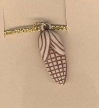 CORN COB PENDANT NECKLACE-Clay/Bone-look Autumn Harvest Jewelry - $3.97