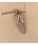 CORN COB PENDANT NECKLACE-Clay/Bone-look Autumn Harvest Jewelry - $3.97