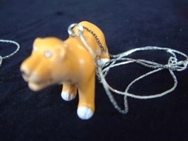 COUGAR - Mountain LION - LIONESS NECKLACE - Zoo Toy Jewelry-BIG - $3.97