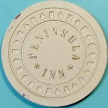 $1 Casino Chip. Peninsula Inn, San Mateo, CA. 1952. T86. - $8.50