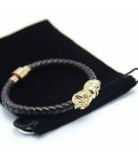 Bracelet With Magnetic Velvet Bag& Gift Box With Genuine Leather Skull M... - $6.06