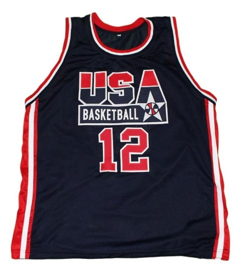 Dominique wilkins  12 team usa new men basketball jersey navy blue   1