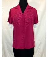 DA FU GUI Rare Vintage Silk Hand Embroidered Blouse 34 - $65.00