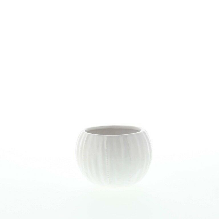 Set of 2 Chic Pure White Textured Ceramic Round Votive Candle Holders image 4