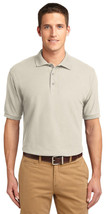 Port Authority K500ES Men Silk Touch Polo Shirt - Light Stone - $33.98+