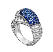 925 Sterling Silver Natural Blue Sapphire  Ring For Man Size 8 To 12   - $470.00