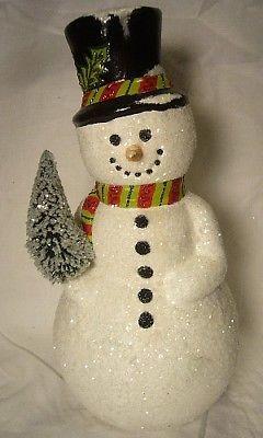 Vaillancourt Folk Art Large Glitzy Snowman Personally Signed by Judi!