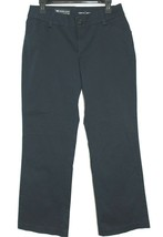 ✿ LEE Navy Blue Modern Curvy Fit 10 Short Cotton Spandex Trousers NEW! L... - $27.54