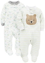 Simple Joys by Carter's Baby Neutral 2-Pack Cotton Footed Sleep and Play... - $25.18