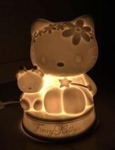 2000 Vintage Hello Kitty Fairy Kitty Lamp Ceramic Lighting Decor Beautif... - $175.00