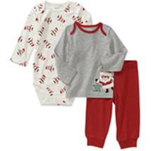 Carters Newborn Boys' 3-Piece Santa Print Set  - $15.00
