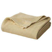 Threshold Full Queen Organic Cotton Yellow & White Luxury Organic Cotton Blanket - $69.27