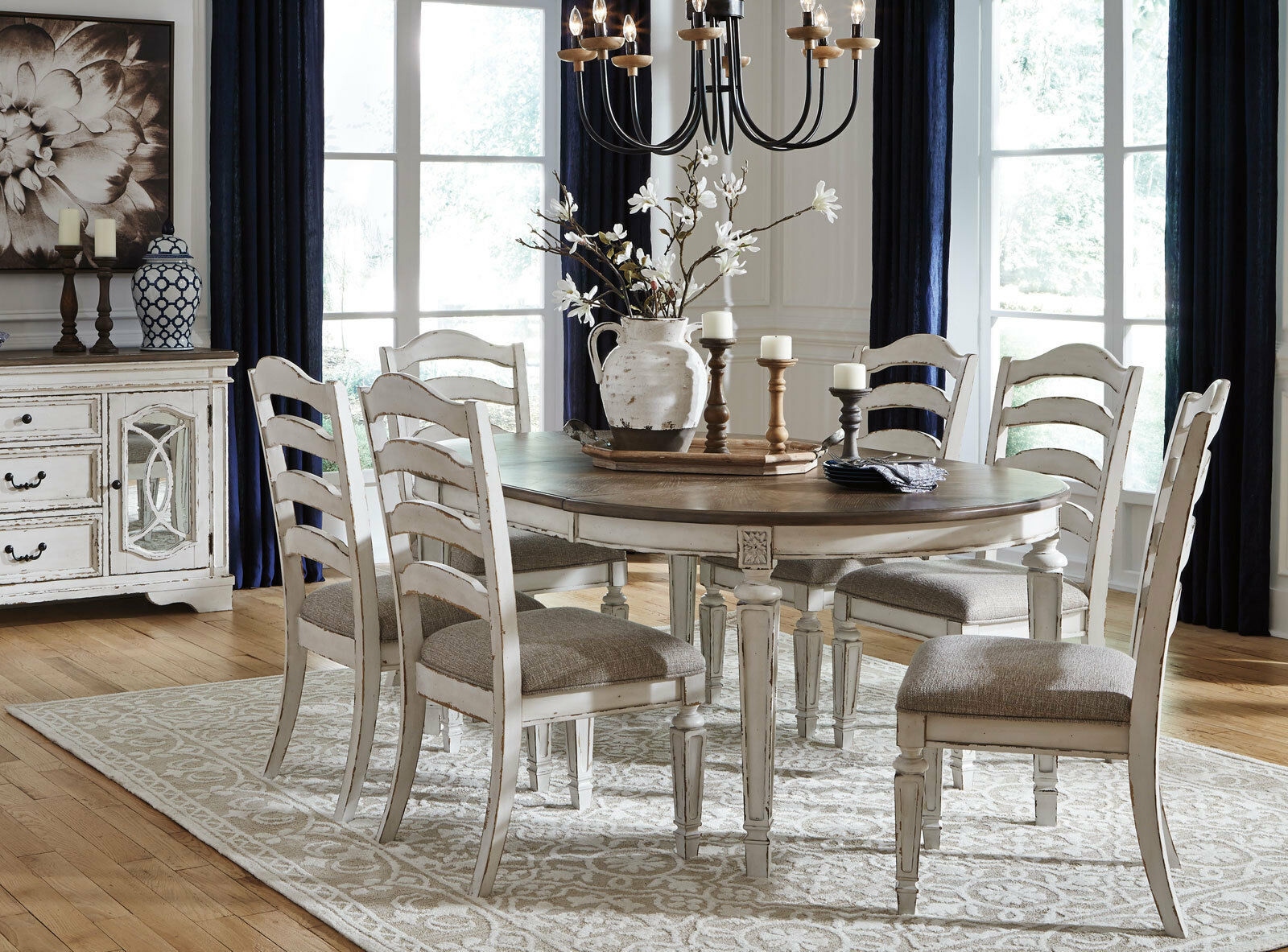 cottage dining room sets regal 7pc french cottage antique white brown oval dining room table chairs set dining sets 6493