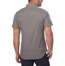 NEW G.H. Bass & Co. Men's Short Sleeve Crosshatch Woven Shirt - Pewter image 2