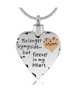 No Longer by My Side But Forever in My Heart Cremation Ashes Urn Necklac... - $49.99