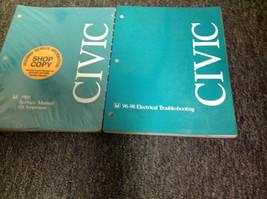 1998 Honda Civic Gx Service Shop Repair Workshop Manual Supplemen Set Oem W Ewd - $108.89