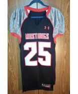 Under Armour SMU Mustangs Football Jersey #25 Mens Medium - $59.39