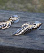 Vintage Trifari Black Enamel and Rhinestone Post Earrings - $65.00