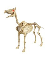 "50"" Outdoor Standing Skeleton Horse Sound Lighted Eyes Halloween Decor Prop - $133.60"