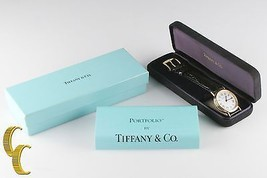 Tiffany & Co. Men's SS Gold Electroplate Portfolio Quartz Watch w/ Box &... - $509.84