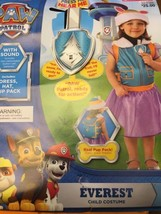 Nick Jr Paw Patrol Everest Halloween Costume Sound Pup Pack Hat 3t-4t - $8.86