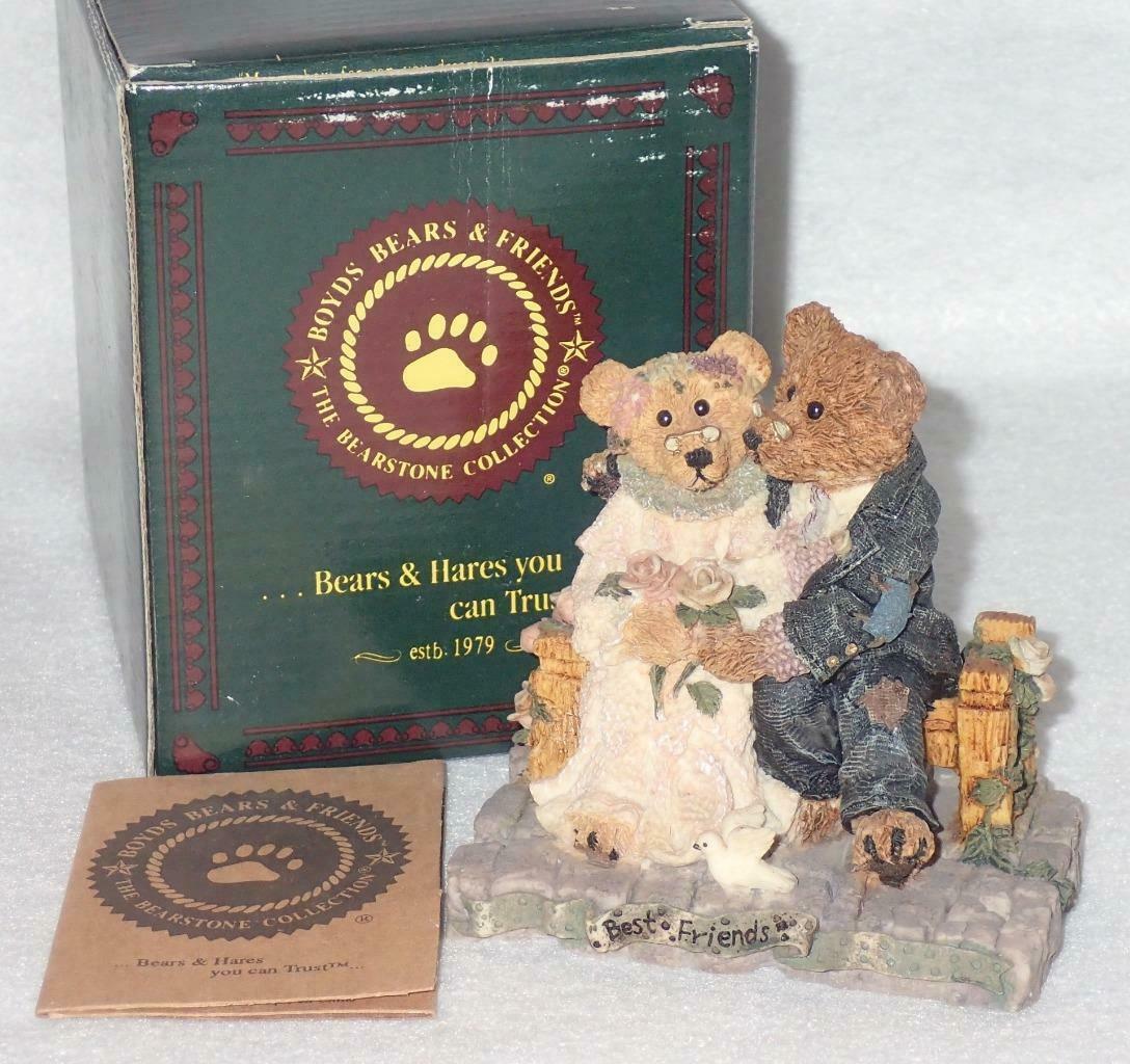 Boyd Bearstone Resin Bears Grenville & Beatrice Best Friend Figurine #2016 image 3