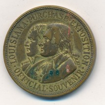 1904 LOUISIANA PURCHASE EXPOSITION SOUVENIR TOKEN-INTERESTING ITEM-SHIPS... - $34.95