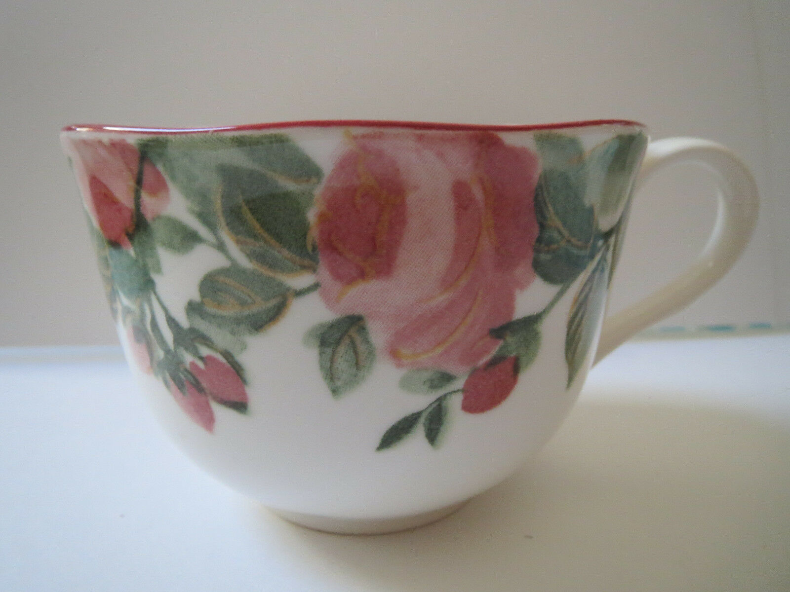 NIKKO TABLEWARE - NIKKO TEACUP AND SAUCER - JAPAN PRECIOUS PATTERN