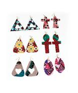 """African Print Earrings -Set of 6,Traditional Print, Earrings 3""""-4"""" Long... - $59.75"""