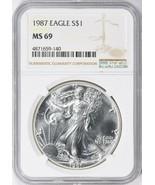 1987 $1 Silver Eagle NGC MS-69 - $65.00