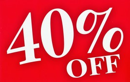 40% off sale ends on Thursday February 6th...... - $0.00