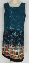 SHANNON MARIE Hawaii surf boards palm trees cotton shift dress cruise vacay - $16.78