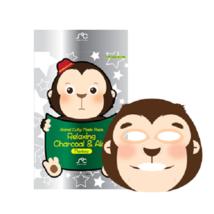 Animal Sheet Mask Relaxing Charcoal & Aloe Vera Pore Cleansing Korean Mask - $3.00