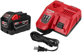 Milwaukee Power Tool Battery Starter Kit 9.0 Ah 18-Volt Lithium-Ion Cord... - $261.45