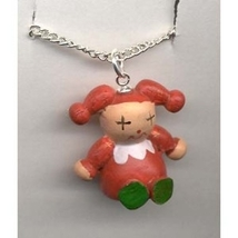 JACK-in-the-BOX JESTER CLOWN PENDANT NECKLACE-Toy Funky Jewelry - $4.97