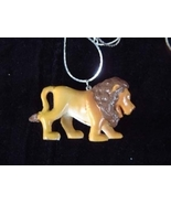 LION WALKING NECKLACE-Jungle King Toy Charm Funky Jewelry-HUGE - $3.97